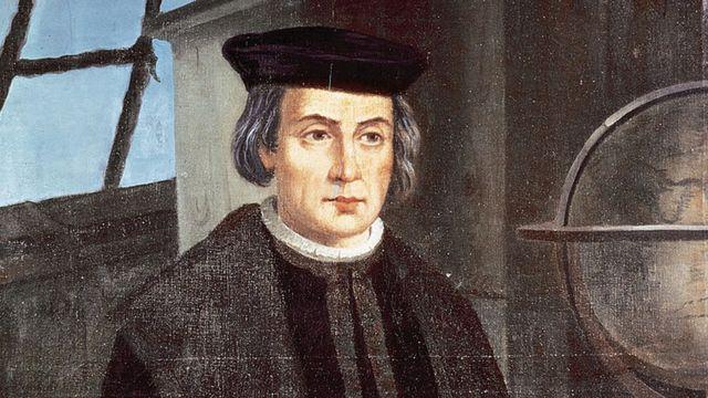 Retrato de Cristóbal Colón de José Roldan. Monasterio de La Rábida, España.