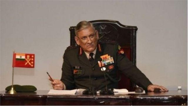 د هند پوځي مشر جنرال بپن راوت ادعا کړې وه چې د پاکستان تر ولکې لاندې کشمیر کې د پاکستان د حکومت ولکه نشته
