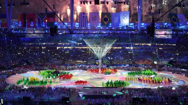 A tree symbolised rebirth at the closing ceremony