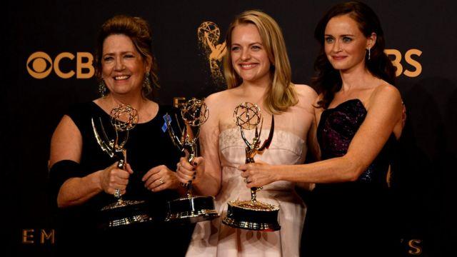 Ann Dowd, Elisabeth Moss and Alexis Bledel