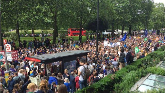 Это вторая после референдума о членстве Британии в Евросоюзе акция протеста против его итогов