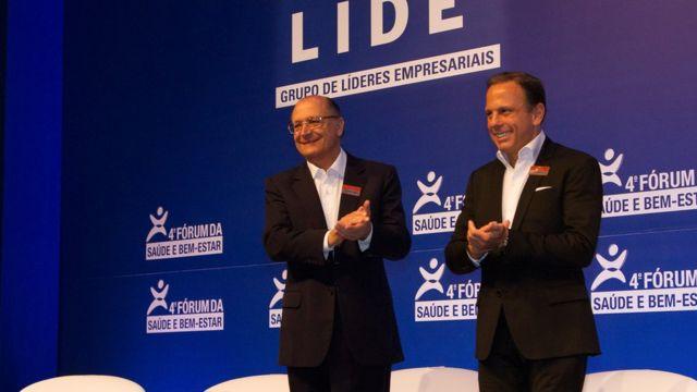 Doria elogia Poupatempo, programa da gestão de Alckmin, seu padrinho político