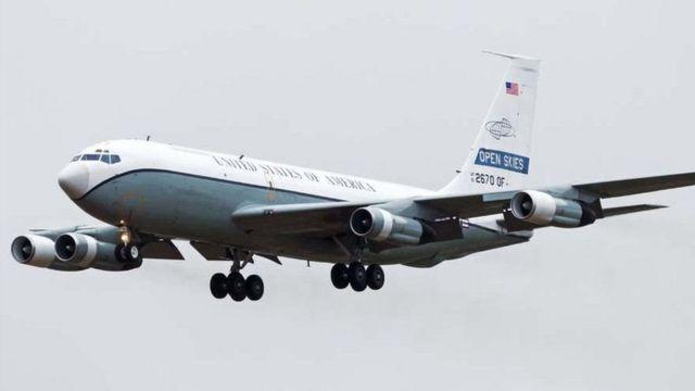 Американский самолет для инспекций в рамках Договора об открытом небе