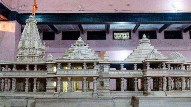 அயோத்தியில் கட்டப்படும் ராமர் கோயிலின் மாதிரி