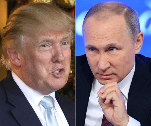 دونالد ترامب في تغريدة على تويتر يمتدح بوتين على تريثه في الرد على طرد دبلوماسيين روس من الولايات المتحدة