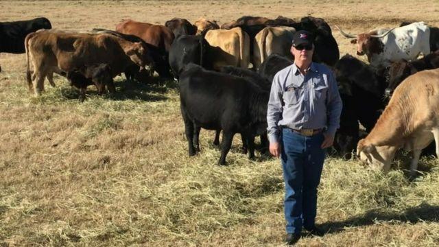Tommy Henderson, a farmer near Wichita Falls, Texas