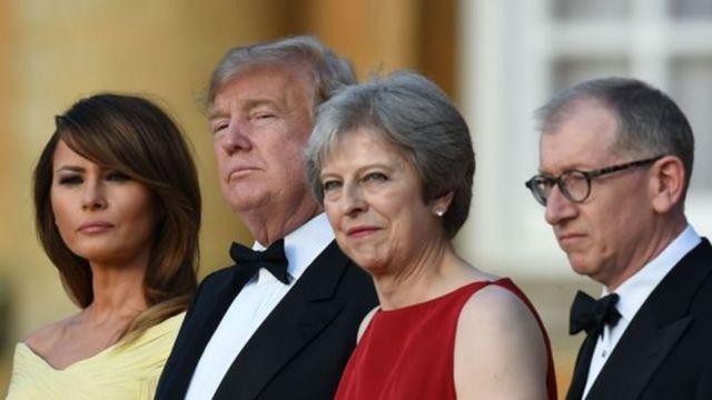 欢迎特朗普到英国