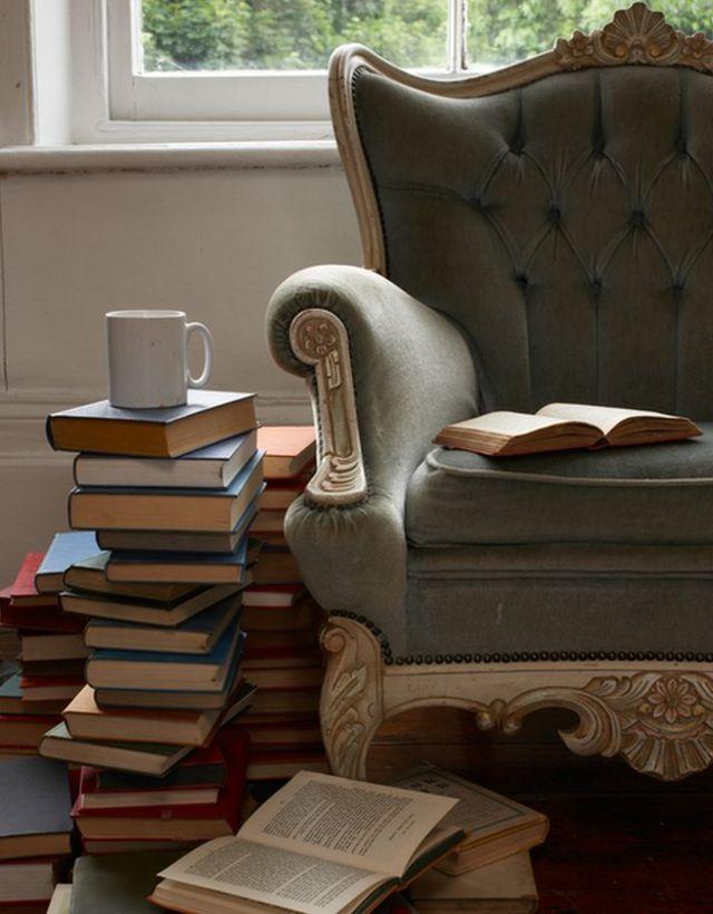 Libros y sillón