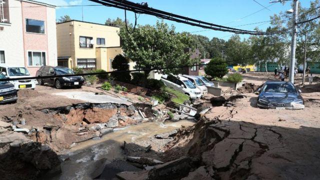 Destrucción causada por el terremoto en Japón.