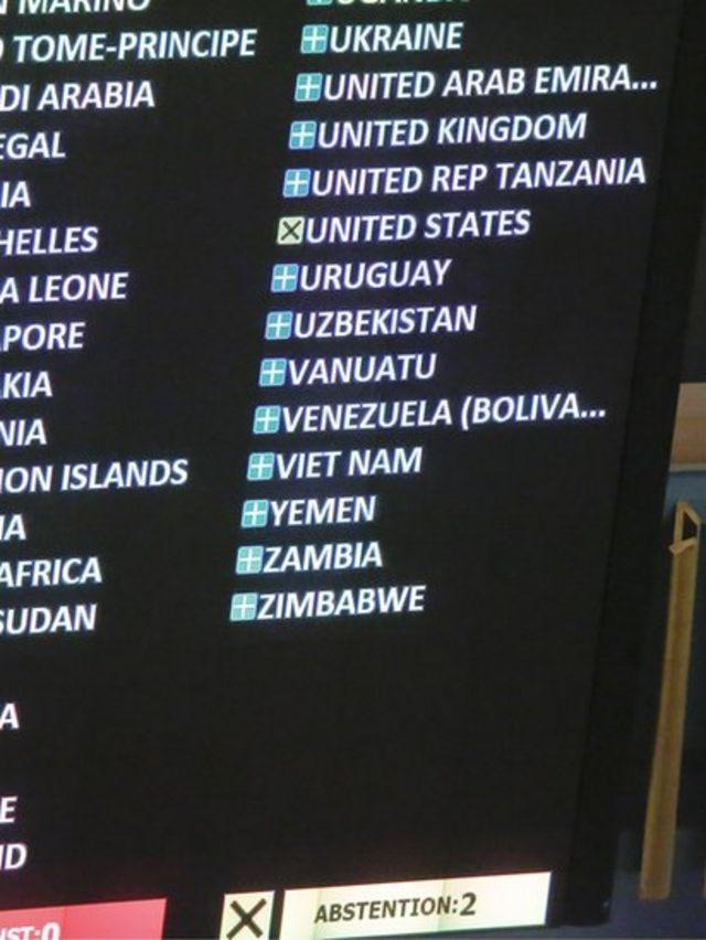 votación en la ONU