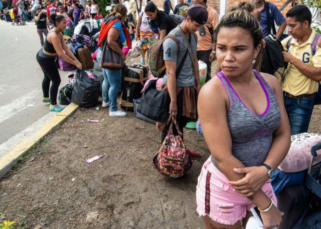 Venezolana migrante