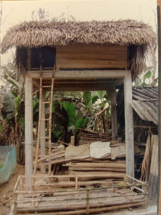 Khung nhà chống lũ của gia đình ông Đinh Công Chính, Hương Khê, Hà Tĩnh