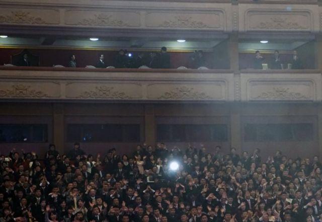 Kuzey Koreli seyirciler
