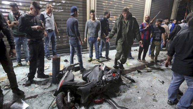 Aftermath of attack in Beirut