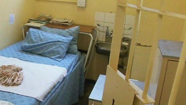 Prison cell where Oscar Pistorius was held.