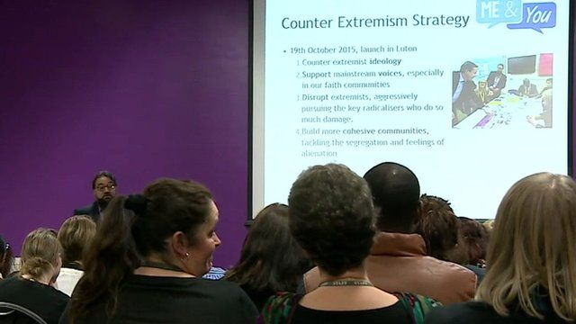 Teachers being given information on how they can prevent young people being drawn into terrorism.