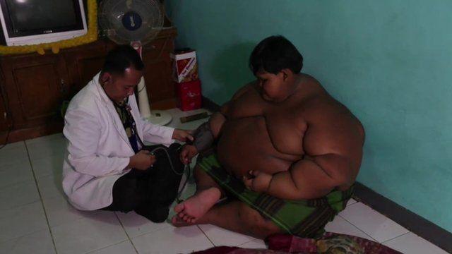 Arya Permana with his doctor