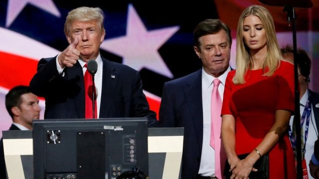 Пол Манафорт біля Іванки Трамп, доньки президента США