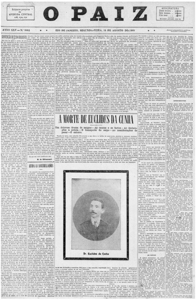 """Capa de """"O Pais"""" de 16 de agosto de 1916"""