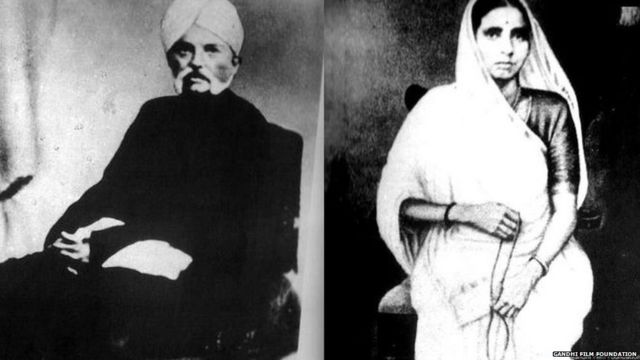 Mahatma Gandhi's father and mother