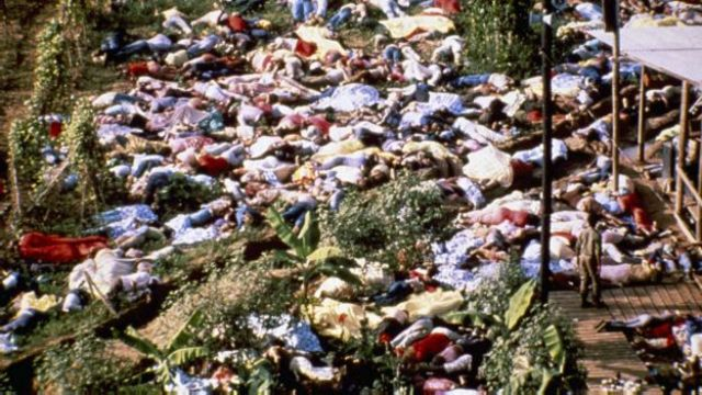 Pessoas mortas no suicídio coletivo de Jonestown
