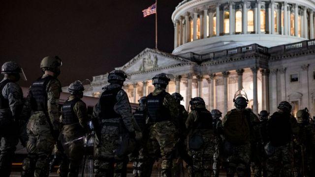 Nationalgarden vor dem Kapitol