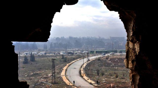 Akalla mutum 6,000 sun fice daga gabashin Aleppo