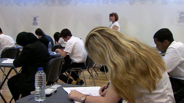Pupils at an Edinburgh school