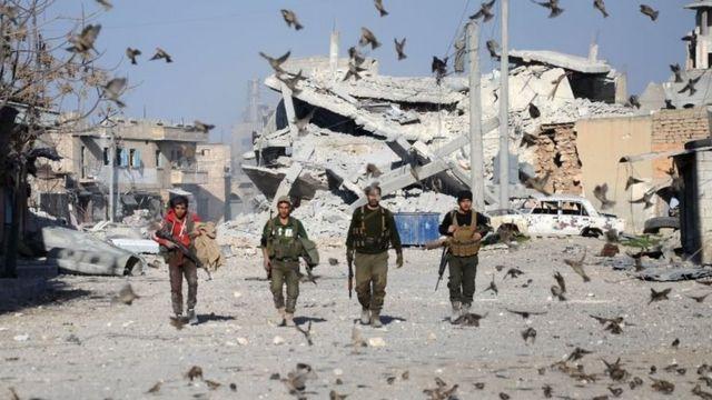 نیروهای ارتش آزاد سوریه در شهر الباب