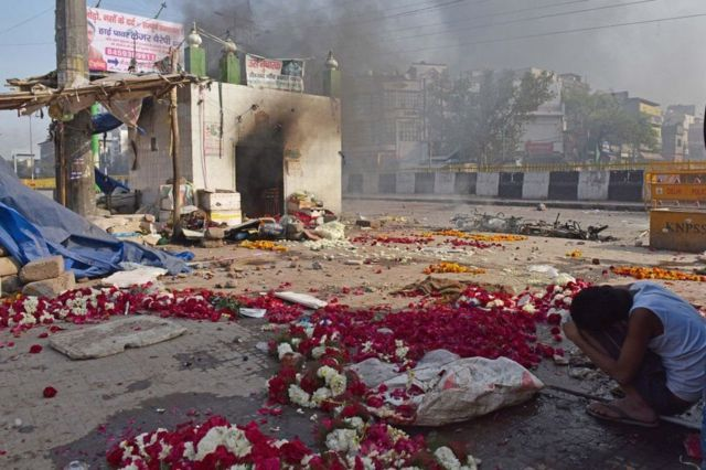 At least two mosques have been vandalised in the clashes