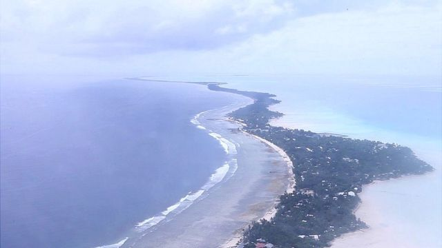 Aerial view of Tarawa