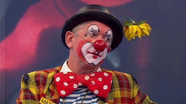 Professional clown Mattie Faint