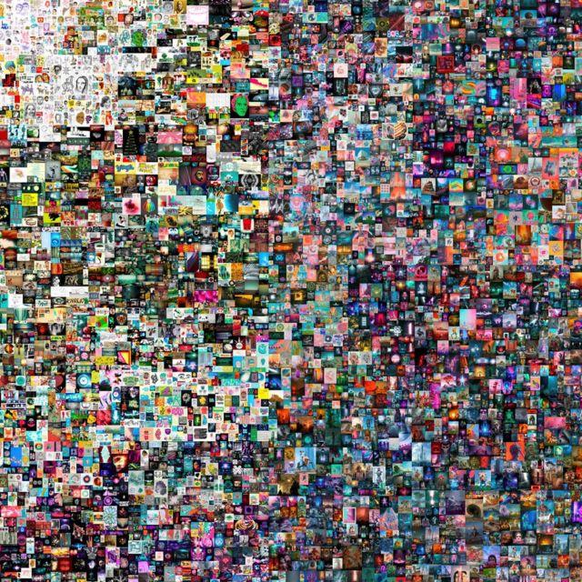 El collage de las 5.000 piezas.