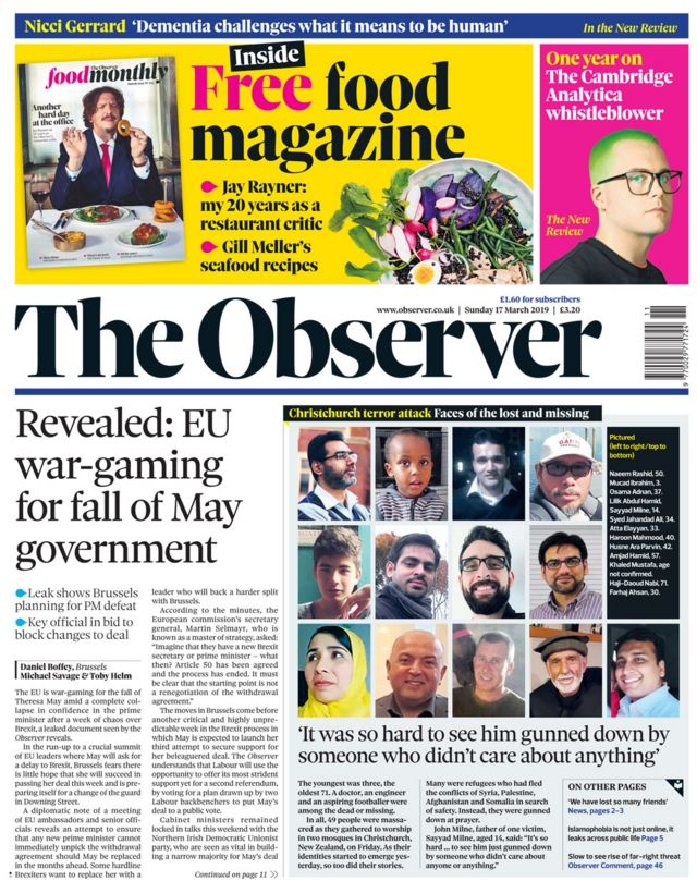 Newspaper headlines: May 'begs MPs' to back Brexit deal