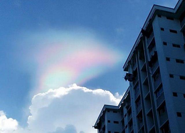 Arco iris de fuego en Singapur