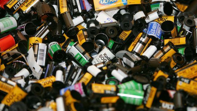 Rollos fotográficos usados de Kodak