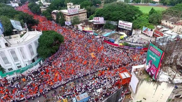 Marcha maratha en Pune.