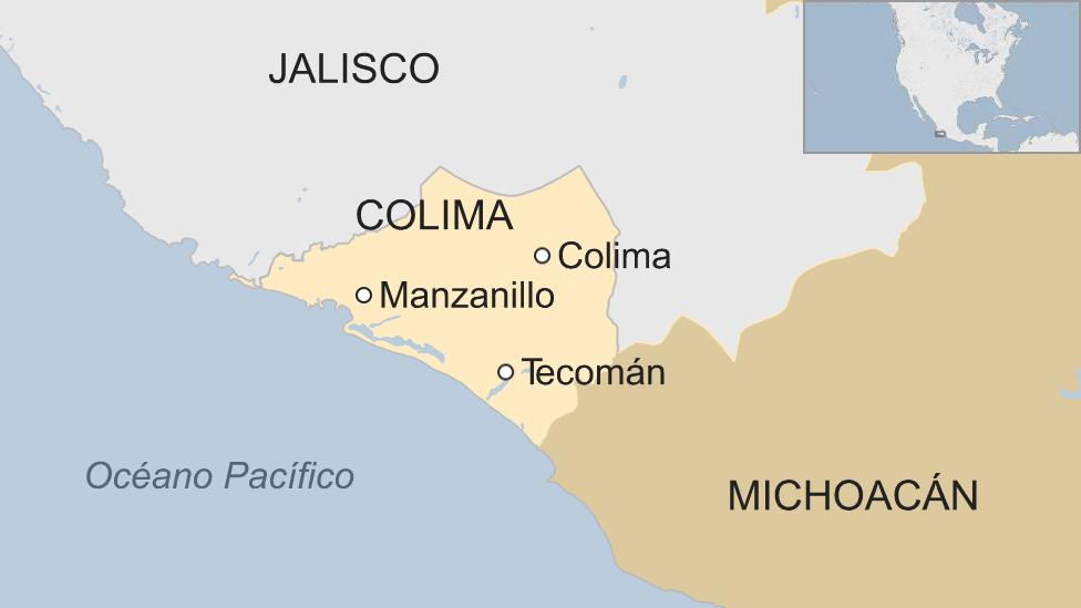 Mapa de la región de Colima