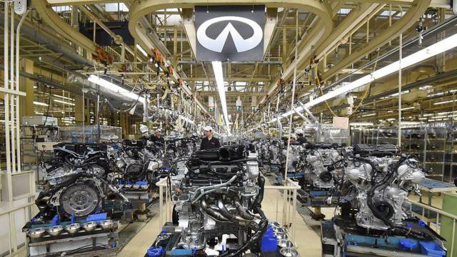 Fábrica de carros en Japón