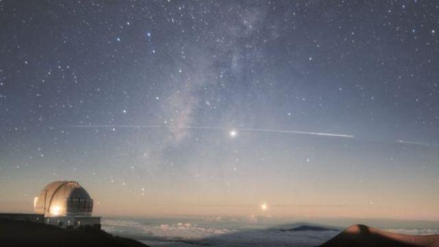 Gemini Gözlemevi'nden Starlink uydularının görüntüsü
