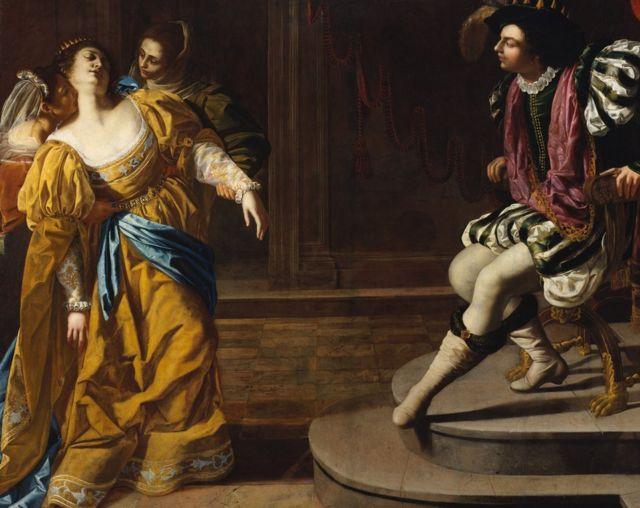"""Ester e Assuero"" (Ester y Asuero), de Artemisia Gentileschi, de 1626-29 ca. Óleo sobre lienzo, 208.3 × 273.7 cm."