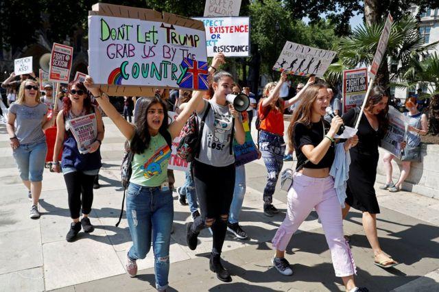 مظاهرة نسائية ضد ترامب