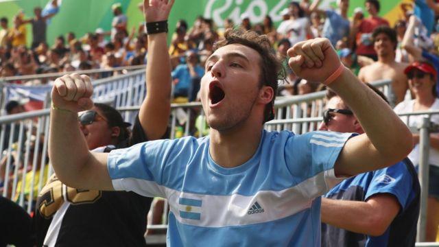 Torcedor da Argentina na Olimpíada