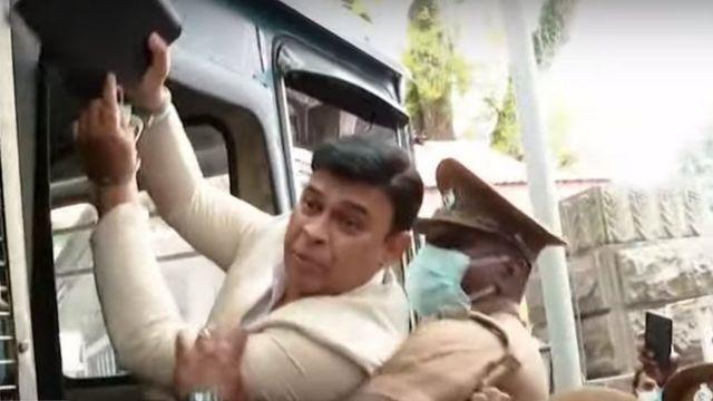 Ranjan Ramanayaka taken to prison