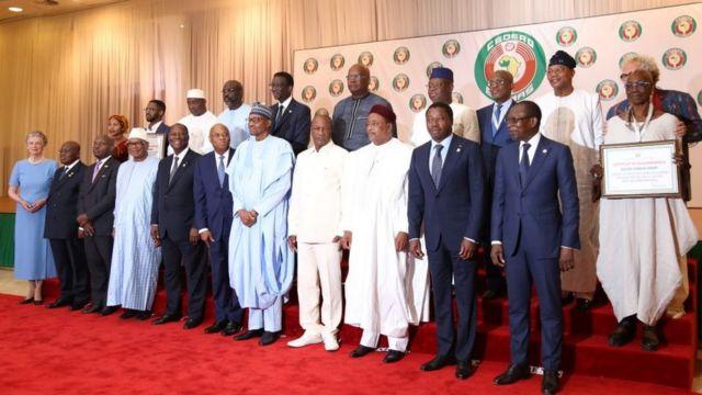 Les dirigeants des pays membres de la Cédéao, samedi 29 juin 2019, à Abuja, au Nigeria