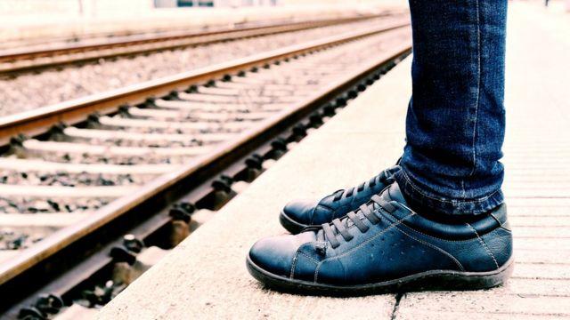 На платформе в ожидании поезда