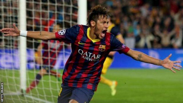 Mchezaji wa Barcelona Neymar