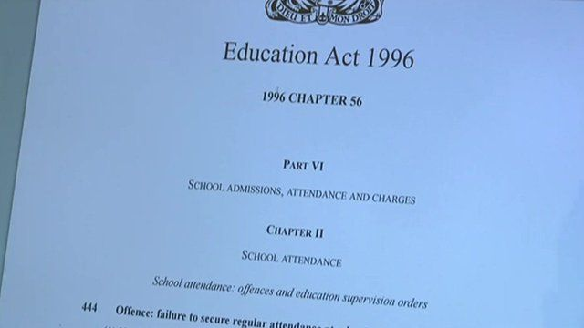 Education Act on computer web site