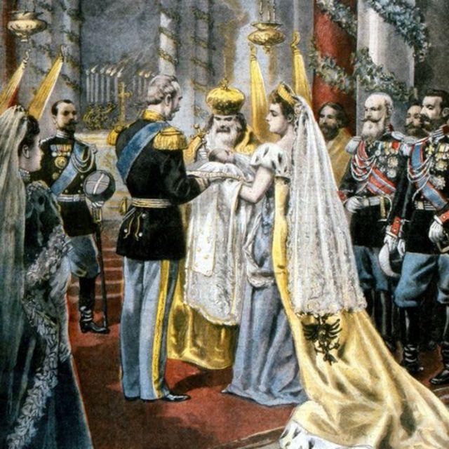 En ese cuadro se recrea el bautizo de la Gran Duquesa Tatiana