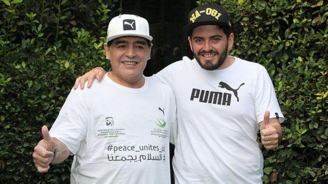Maradona Diego Junior'un babası olduğunu 2016'da kabullendi